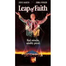 leap of faith starring steve martin and debra winger VHS 1993 paramount used very good