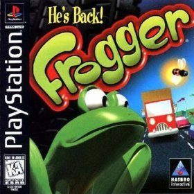 playstation : frogger - 1997 hasbro interactive ntsc u/c : rated everyone - used mint