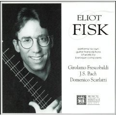 eliot fisk performs baroque guitar transcriptions CD 1994 MHS 8 tracks mint