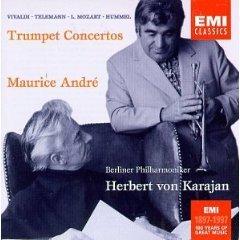vivaldi telemann L mozart hummel - trumpet concertos : maurice andre CD 1997 EMI BMG Dir - mint