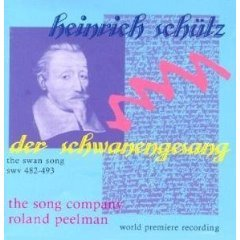 Schütz: Der Schwanengesang, SWV.482-493 the swan song CD 1997 celestial harmonies used mint