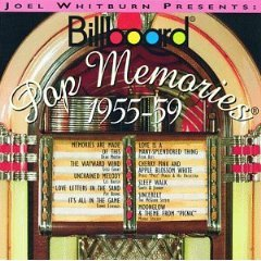 joel whitburn presents billboard pop memories 1955 - 1959 CD 1994 rhino MCA used mint
