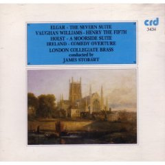 london collegiate brass & james stobart - elgar williams holst and ireland CD 1985 CRD mint
