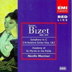 Bizet - Symphony in C L'Arlésienne Suites Nos. 1 & 2 CD 1997 EMI used mint