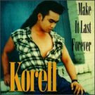 korell - make it last forever CD 1994 thump records used mint barcode punched