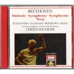 beethoven symphony no. 9 - jochum and london symphony chous and orchestra CD 1987 EMI mint