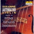Music of Pfitzner Hartmann Zimmermann - susanne lautenbacher violin CD 2-discs 1994 vox mint