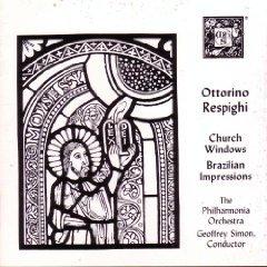 respighi - church windows brazilian impressions - simon & philharmonia CD 1987 MHS mint