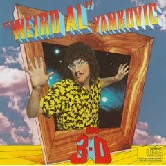 weird al yankovic - in 3-D CD 1984 warner 1990 scotti bros. used mint