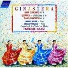 Ginastera - Harp Concerto, Estancia, Piano Concerto No. 1 - enrique batiz CD 1989 ASV used mint