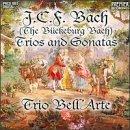 J.C.F. bach trios and sonatas - trio bell'arte CD 1996 premier recordings used mint
