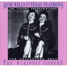 bob wills and his texas playboys - tiffany transcriptions the mckinney sisters CD 1990 rhino mint