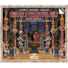 handel - organ concertos op.4 - preston holliger pinnock CD 2-discs 1984 polydor germany used mint