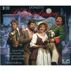 Donizetti - L'elisir D'amore - wallberg popp dvorsky weikl CD 1985 ariola eurodisc germany used