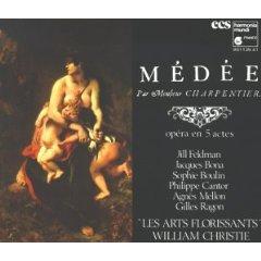 charpentier - medee - les arts florissants CD 3-disc box 1984 harmonia mundi used