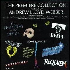 Premiere Collection The Best Of Andrew Lloyd Webber Original Cast Compilation CD 1988 MCA used mint