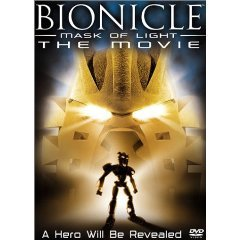 bionicle mask of light the movie DVD 2003 miramax lego used mint