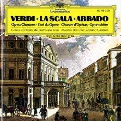 verdi opera choruses - la scala abbado CD 1975 polydor deusche grammophon used mint