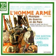 l'homme arme (1450 - 1650) boston camerata joel cohen CD 1986 erato france used mint