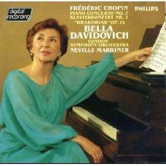 chopin piano concerto no.2 bella davidovich LSO marriner CD philips phonogram mint