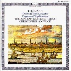 telemann double & triple concertos - academy of ancient music & hogwood CD 1984 polygram germany