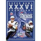 super bowl XXXVI champions official enhanced DVD edition 2002 used mint