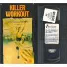 killer workout starring marcia karr and david campbell VHS 1987 academy 89 mins used