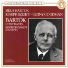 bartok contrasts mikrokosmos excerpts - szigeti and goodman CD 1991 sony used mint