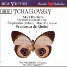 Tchaikovsky 1812 Overture, Capriccio Italien, Marche Slave, Francesca di Rimini CD 1988 RCA mint