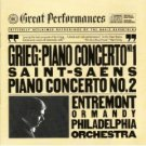 grieg piano concerto no.1 / saint-saens piano concerto no.2 - entremont CD CBS sony mint