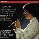 Telemann Suite in A minor 2 Double Concertos - michala petri CD 1982 1990 philips germany used mint