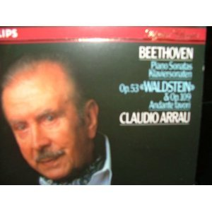 beethoven piano sonatas op.53 waldstein &, op.109 / andante favori - arrau CD 1986 polygram mint