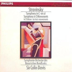 stravinsky symphony in C & symphony in 3 movements - colin davis CD 1987 philips