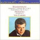 rachmaninoff sonata no.2 op.36 & prokofief sonata no.6 op.82 - cliburn CD 1988 RCA mint