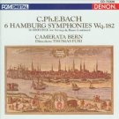 c ph e bach - 6 hamburg symphonies wq.182 - camerata bern CD 1989 denon japan mint