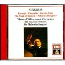 sibelius - en saga / finlandia / karelia suite - VPO, BSO, sargent CD 1990 EMI used mint