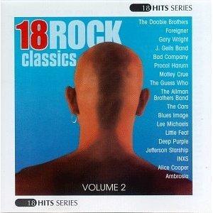 18 rock classics volume 2 - various artists CD 1997 warner jci used mint
