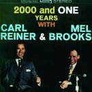 2000 and one years with carl reiner & mel brooks CD 1994 rhino used mint