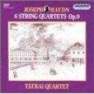 haydn 6 string quartets op.9 - tatrai quartet CD 2-disc box 1991 hungaroton used mint