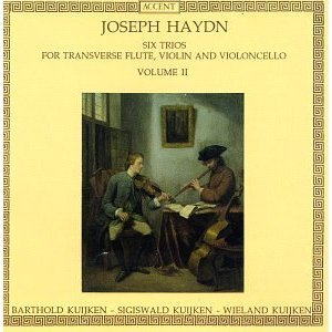 haydn six trios for transverse flute violin and violoncello vol II - kuijken CD accent