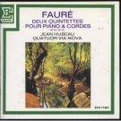 faure deux quintettes pour piano & cordes - hubeau & quatuor via nova CD erato used mint