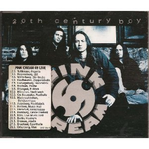 pink cream 69 - 20th century boy CD single 1995 epic sony 3 tracks used mint