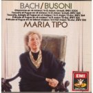 bach and busoni - chaconne toccata et fugue etc - maria tipo CD 1988 EMI germany used mint