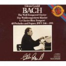 bach well-tempered clavier 48 preludes and fuges BWV 846-893 - gould CD 3-discs 1986 CBS mint