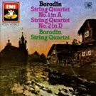borodin string quartet no.1 in A & no.2 in D - borodin string quartet CD 1987 EMI used mint