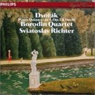 dvorak piano quintets in A op.5 & op.81 - borodin quartet and richter CD 1985 philips germany mint