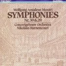 mozart symphonies nr. 39 & 29 - concertgebouw & harnoncourt CD 1984 teldec germany mint