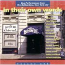 in their own words - live performances from the bottom line new york city vol 1 CD 1994 razor & tie
