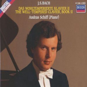 bach - The Well Tempered Clavier Book II - András Schiff CD 2-discs 1987 decca used mint