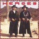 johnny cash & waylon jennings - heroes CD 1995 razor & tie used mint